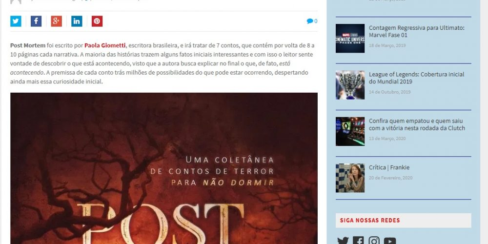 Resenha Post Mortem